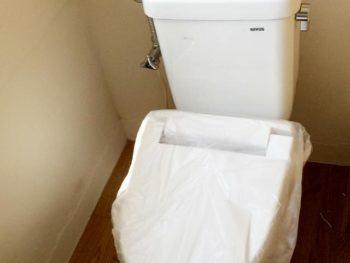宮崎市国富町H様邸トイレ施工事例 ネポン簡易トイレプリティーナ