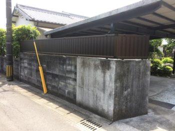 宮崎市M様邸 フェンス施工事例