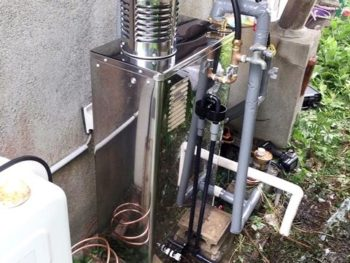 宮崎市大島町H様邸 石油給湯器取替施工事例 ボイラ石油給湯器 IB-3865SG