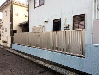 宮崎市清武町I様邸 フェンスYKK エクスラインフェンス22型