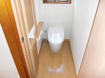 宮崎市下原町T様邸 トイレ施工事例 リクシル サティスG トイレドア リクシル ファミリーライン