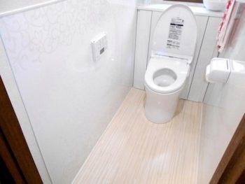 宮崎市花山手東T様邸 トイレ施工事例 TOTO便器レストパルI型を設置取付