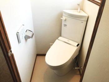 宮崎市中西町K様邸 トイレ施工事例 TOTOコンパクト便器 ウォシュレットS1