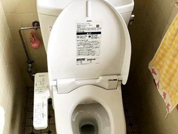 宮崎市堀川町K様邸 トイレ施工事例 TOTOピュアレストQR+ウォシュレットSB