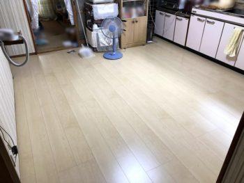 宮崎市中西町K様 キッチン床、廊下2重張り 施工事例