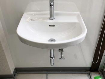 宮崎市K事務所様 社長室手洗い器新規設置施工事例