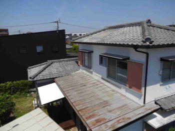 宮崎市K様 ベランダ撤去・太陽熱温水器撤去 施工事例