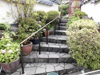 宮崎市大塚町K様 外階段手摺設置施工事例