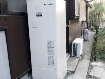 宮崎市古城N様 電気温水器取替 DO3711GP 施工事例 (引き込み配線、配電盤取替工事含)