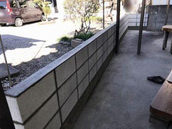 宮崎市昭和町M様 ブロック塀 施工事例