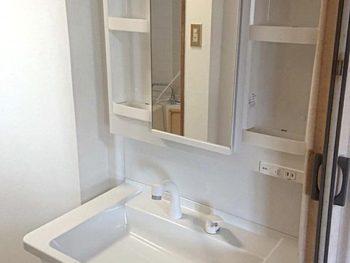 宮崎市K様アパート 洗面化粧台・床壁内装 施工事例