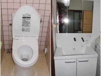 宮崎市鶴島G様 トイレ・洗面化粧台 施工事例