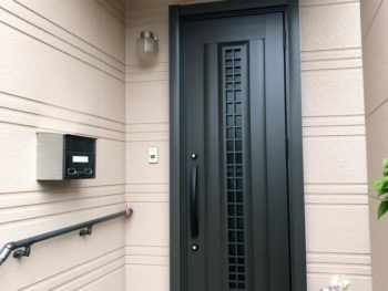 宮崎市小松K様 玄関ドア・ポスト取替 施工事例