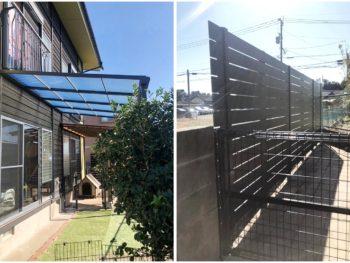 宮崎市下北方町N様 テラス屋根・フェンス取付 施工事例