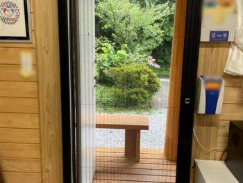 宮崎県西都市T社様 事務所玄関 後付け網戸設置 施工事例