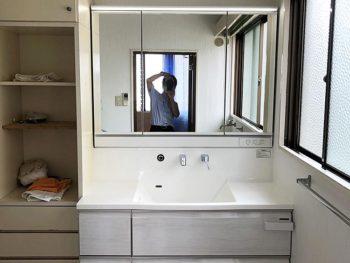 宮崎市広島S様 洗面化粧台・脱衣室改修 施工事例